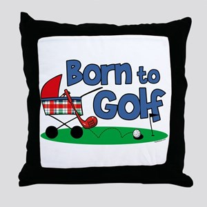Born To Golf Throw Pillow