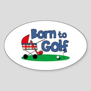 Born To Golf Oval Sticker