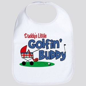 Daddy's Little Golfin' Buddy Bib