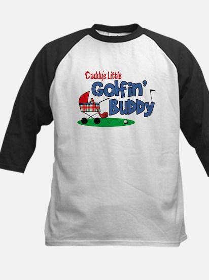 Daddy's Little Golfin' Buddy Kids Baseball Jersey