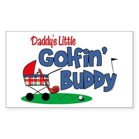 Daddy's Little Golfin' Buddy Rectangle Sticker