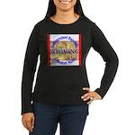 Wyoming-3 Women's Long Sleeve Dark T-Shirt
