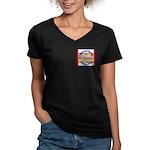 Wyoming-3 Women's V-Neck Dark T-Shirt