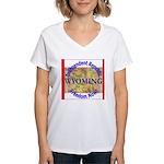 Wyoming-3 Women's V-Neck T-Shirt