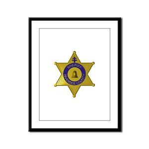 Riverside Sheriff Framed Panel Print