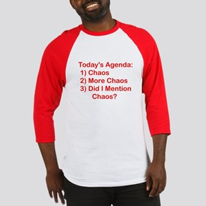 Today's Agenda: Chaos Baseball Jersey