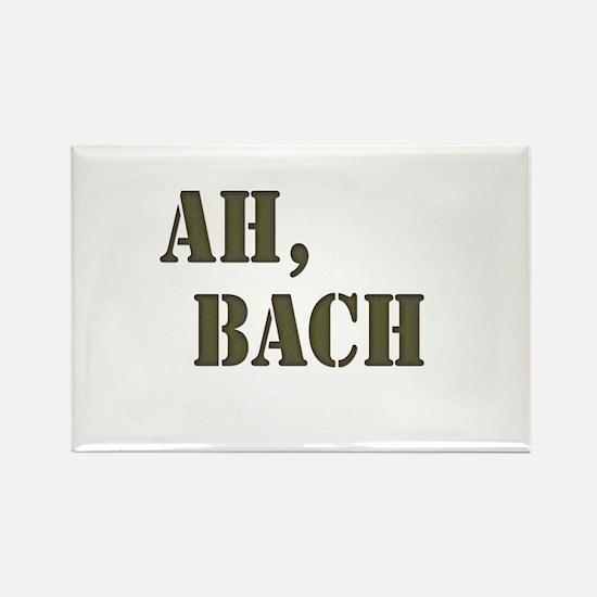 Ah, Bach Rectangle Magnet