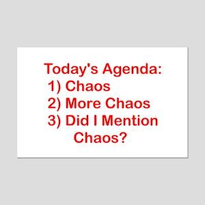 Today's Agenda: Chaos Mini Poster Print