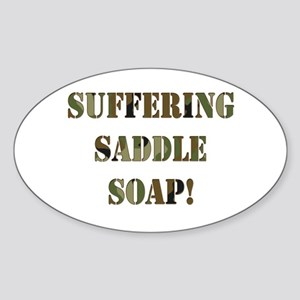 Suffering Saddle Soap Oval Sticker