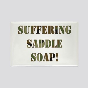 Suffering Saddle Soap Rectangle Magnet