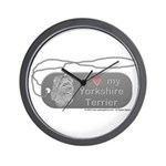 Yorkshire Terrier Silver Wall Clock