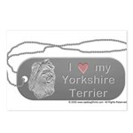 Yorkshire Terrier Silver Postcards (Package of 8)