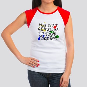 Preschool Scare Women's Cap Sleeve T-Shirt