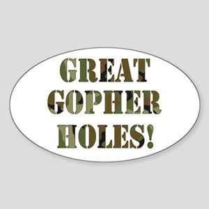 Great Gopher Holes Oval Sticker