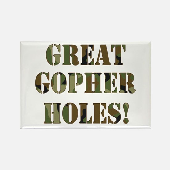 Great Gopher Holes Rectangle Magnet