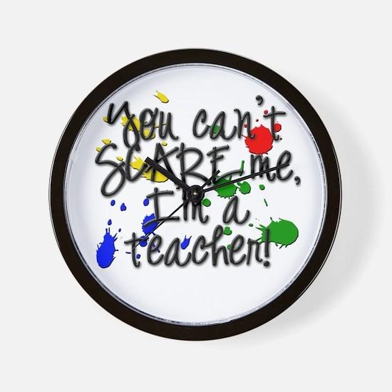 Scare Teacher Wall Clock