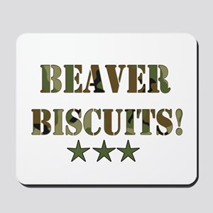 Beaver Biscuits Mousepad