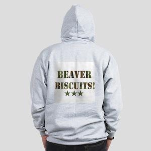 Beaver Biscuits Zip Hoodie