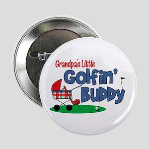 "Grandpa's Little Golfin' Buddy 2.25"" Button"