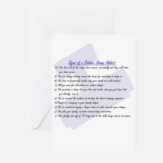 Rubber Stamp Addict Greeting Cards (Pk of 10)