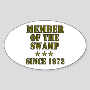Swamp Member Oval Sticker