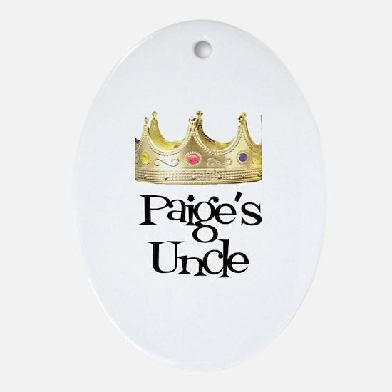 Paige's Uncle Oval Ornament