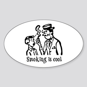 Smoking is cool Oval Sticker