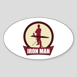 """Iron Man"" Oval Sticker"