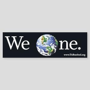 We One Bumper Sticker