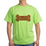 I Love my Yorkie Green T-Shirt
