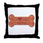 I Love my Yorkie Throw Pillow