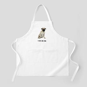 I Love My Pug BBQ Apron