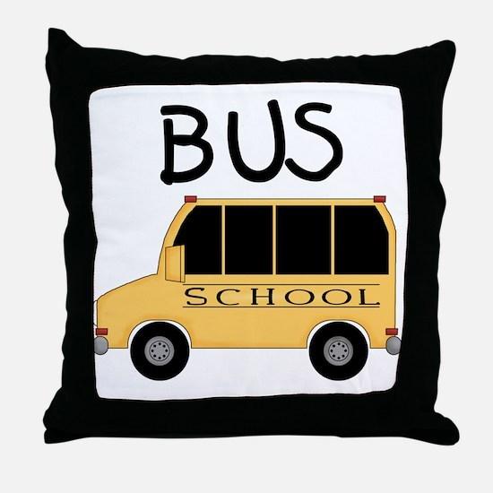 School Bus Throw Pillow