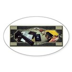 CIA Tools of the Trade Oval Sticker (50 pk)