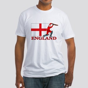 English Cricket Player Fitted T-Shirt