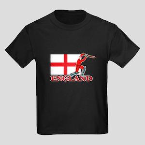 English Cricket Player Kids Dark T-Shirt