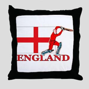 English Cricket Player Throw Pillow