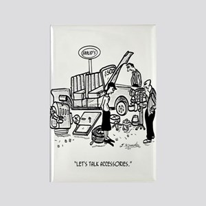 Car Dealer Cartoon 3162 Rectangle Magnet