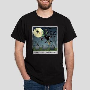 Witch Cartoon 9453 Dark T-Shirt