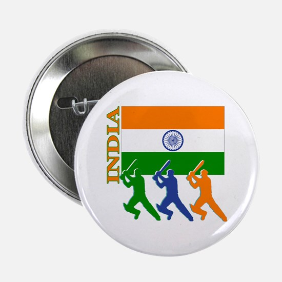"""India Cricket 2.25"""" Button (10 pack)"""