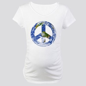 World Peace Sign East Maternity T-Shirt