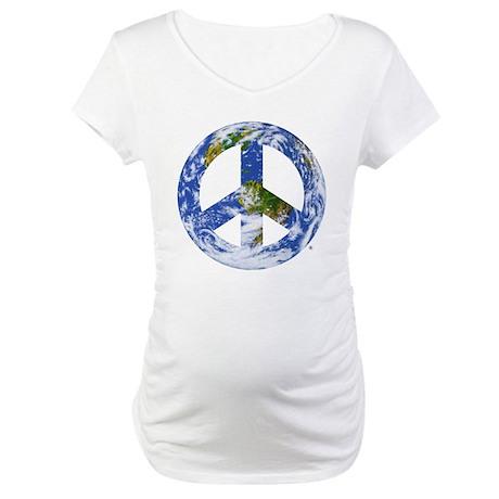 World Peace Sign East Maternity T-Shirt