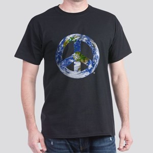 World Peace Sign East Dark T-Shirt
