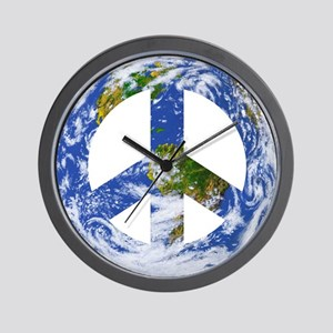 World Peace Sign East Wall Clock