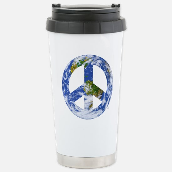 World Peace Sign East Stainless Steel Travel Mug