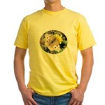 Butterfly on Flower Yellow T-Shirt