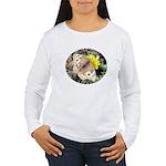 Butterfly on Flower Women's Long Sleeve T-Shirt