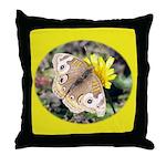 Butterfly on Flower Throw Pillow