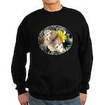 Butterfly on Flower Sweatshirt (dark)