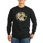 Butterfly on Flower Long Sleeve Dark T-Shirt
